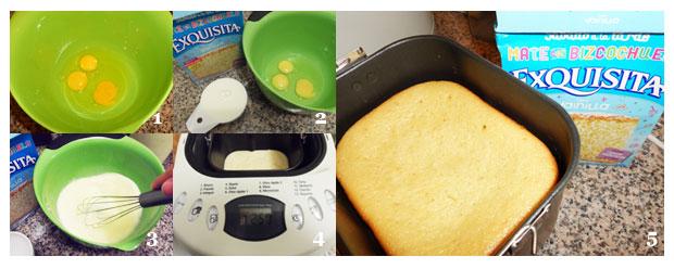 paso a paso torta Exquisita en máquina de pan