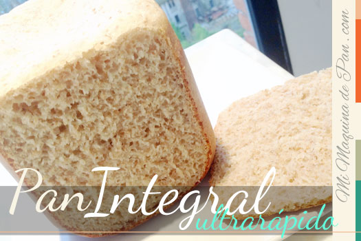 Pan Integral Ultra Rápido en  hornode pan