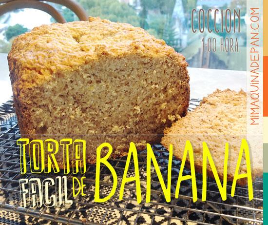 Torta de Banana Fácil en Panificadora