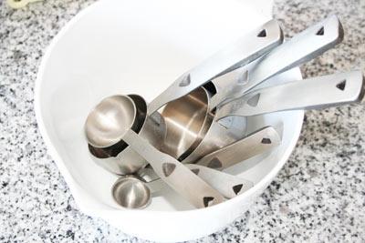 set de cucharas y tazas de medir