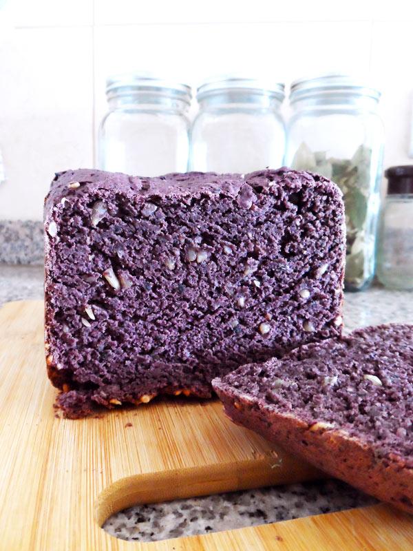 pan antioxidante de harina de maíz morado