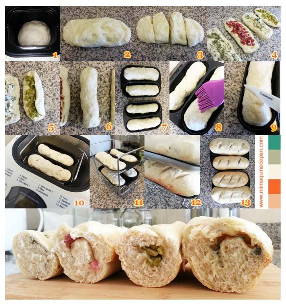 como hacer baguettes rellenas
