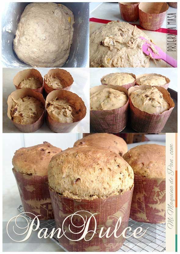 Receta de Pan dulce con panificadora